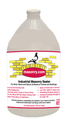 Bottle of Industrial Masonry Sealer. Protects all of your masonry surfaces and extend their life.